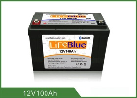 Lifeblue Lithium Ion Deep Cycle Battery for RV - Boat